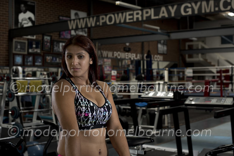beauty and fitness model photography, power play gymnasium
